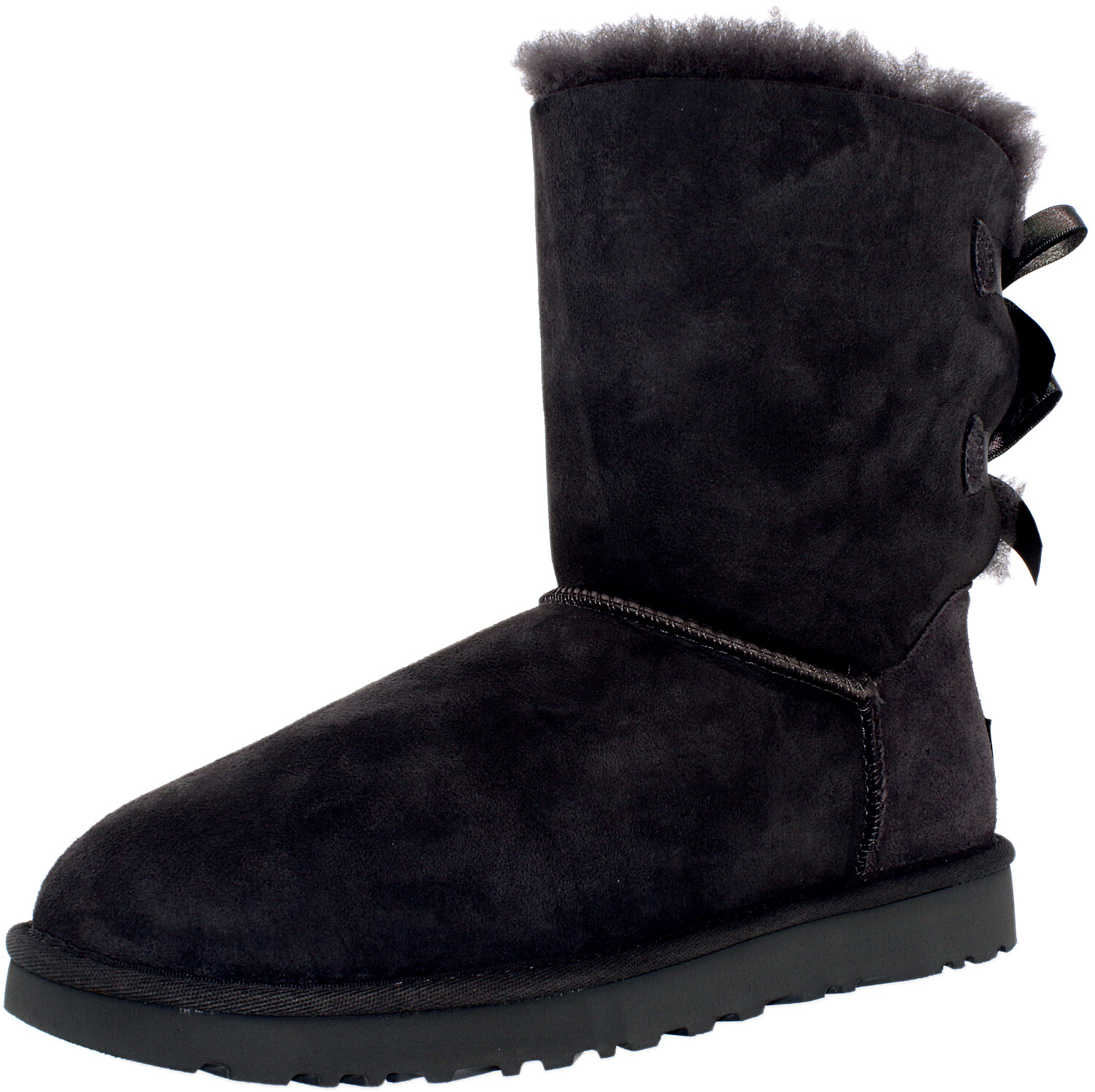 Ugg Women's Bailey Bow II Grey Ankle-High Suede Snow Boot - 7M