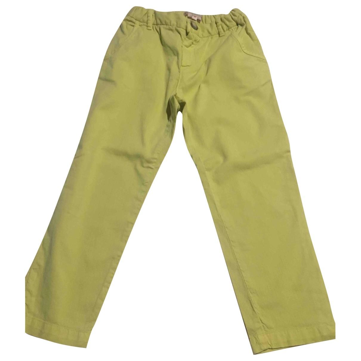 Pantalones en Algodon Amarillo Bonpoint