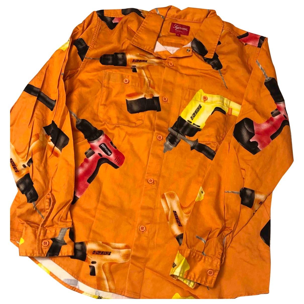 Supreme - Chemises   pour homme en coton - orange