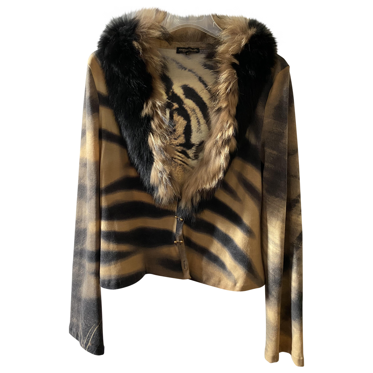 Roberto Cavalli - Pull   pour femme en laine - beige