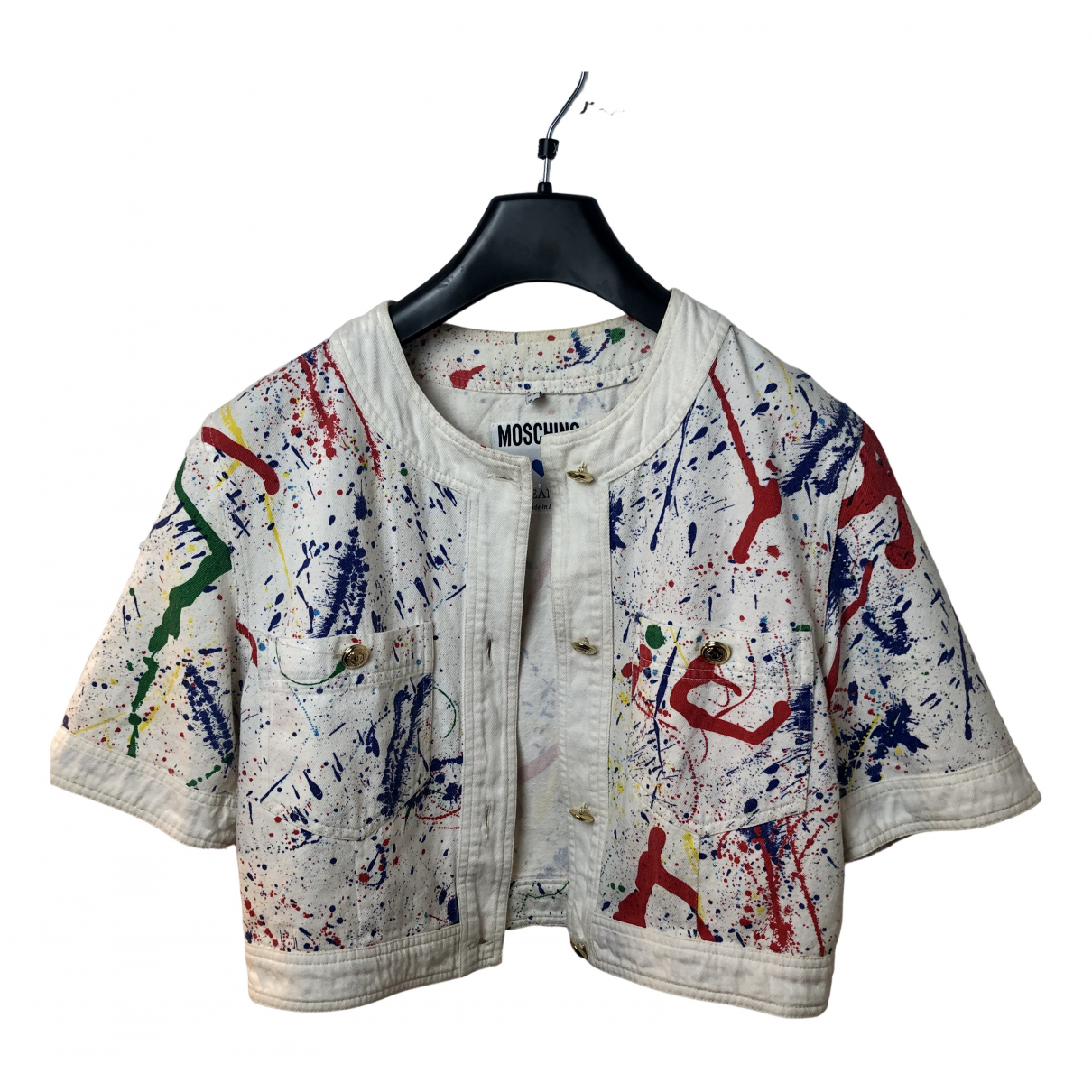 Moschino Cheap And Chic - Veste   pour femme en coton - multicolore