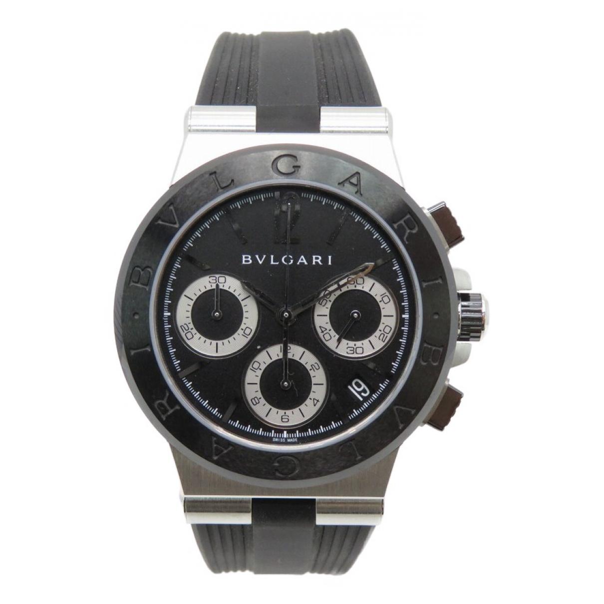 Bvlgari Diagono Uhr in  Schwarz Stahl