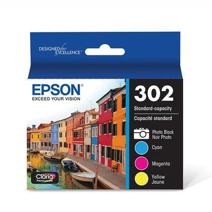 Epson T302520 cartouche d'encre originale photo noire et tri-colore multi-pack pb/c/m/y