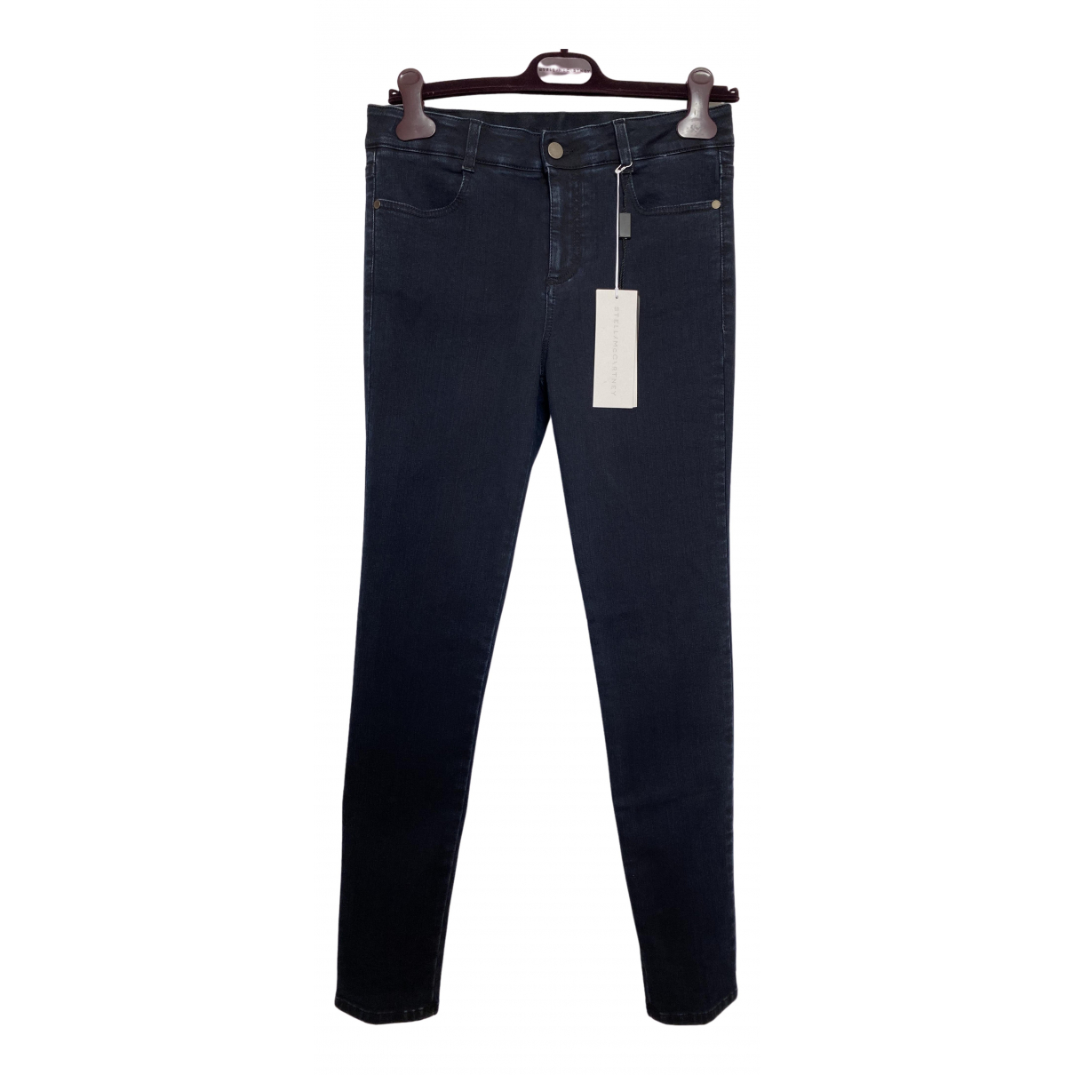 Stella Mccartney \N Navy Cotton - elasthane Jeans for Women 28 US