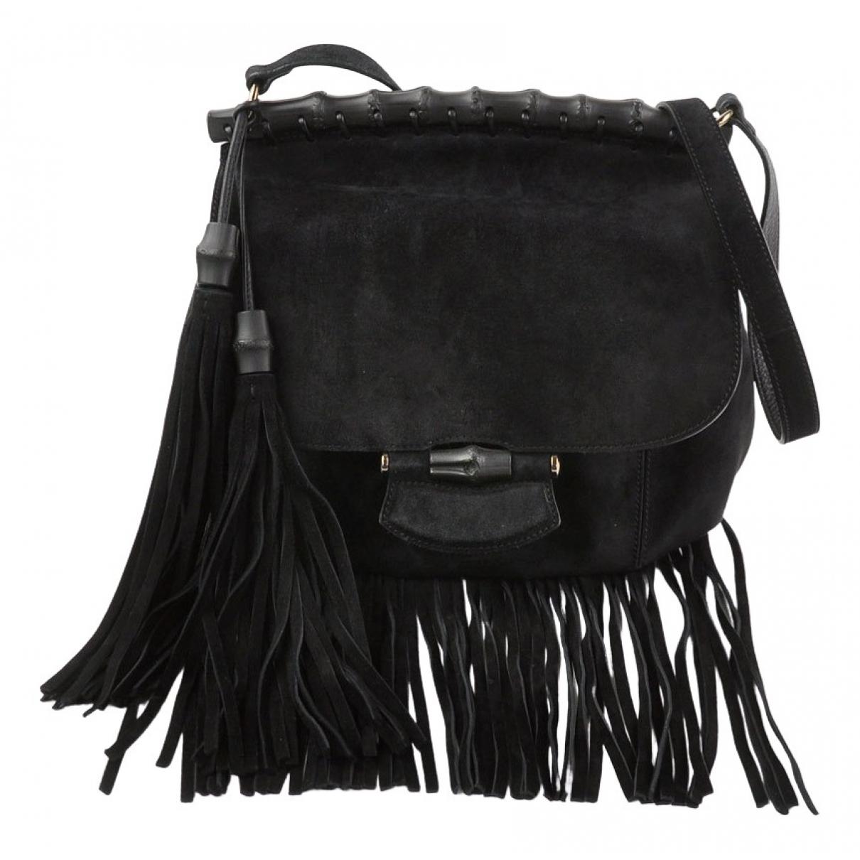 Gucci \N Handtasche in  Schwarz Veloursleder