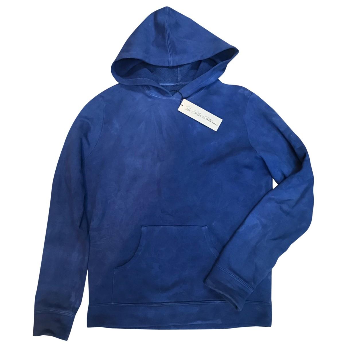 The Elder Statesman \N Pullover.Westen.Sweatshirts  in  Blau Baumwolle