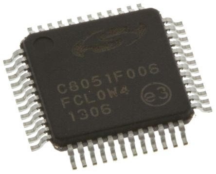 Silicon Labs C8051F006-GQ, 8bit 8051 Microcontroller, C8051F, 25MHz, 32 kB Flash, 48-Pin TQFP