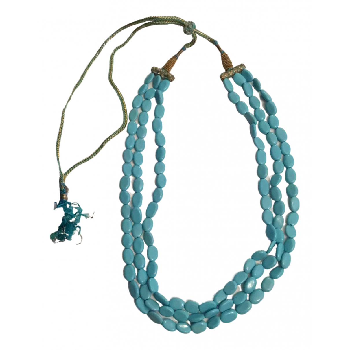Non Signé / Unsigned \N Turquoise Pearls necklace for Women \N