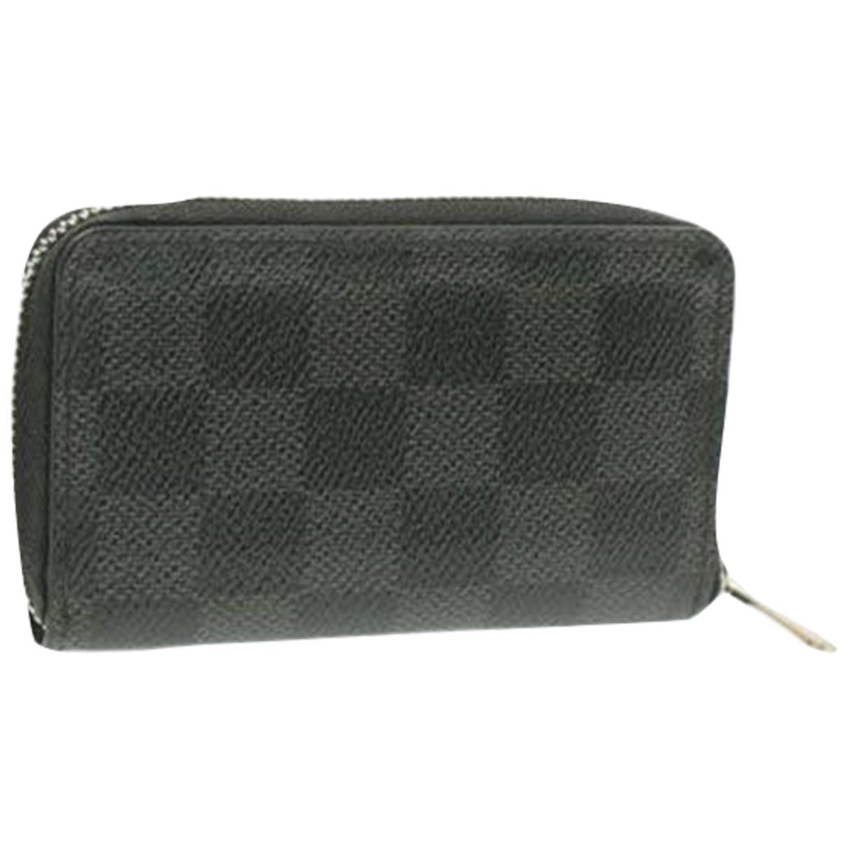 Louis Vuitton - Petite maroquinerie   pour femme en toile - noir