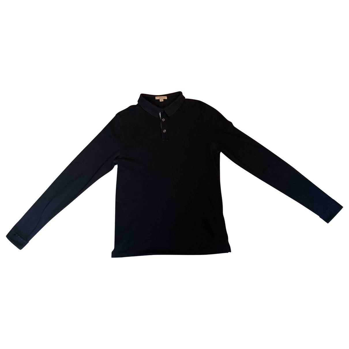 Burberry \N Black Cotton Polo shirts for Men M International
