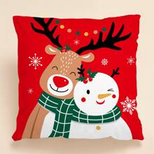 Christmas Deer Cushion Cover Without Filler