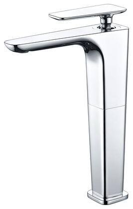 AB1778-PC Tall Modern Bathroom Faucet with Brass  Valve  Single Lever Control  Single Hole Deck Mount Installation  5-Year Warranty and UPC Certified