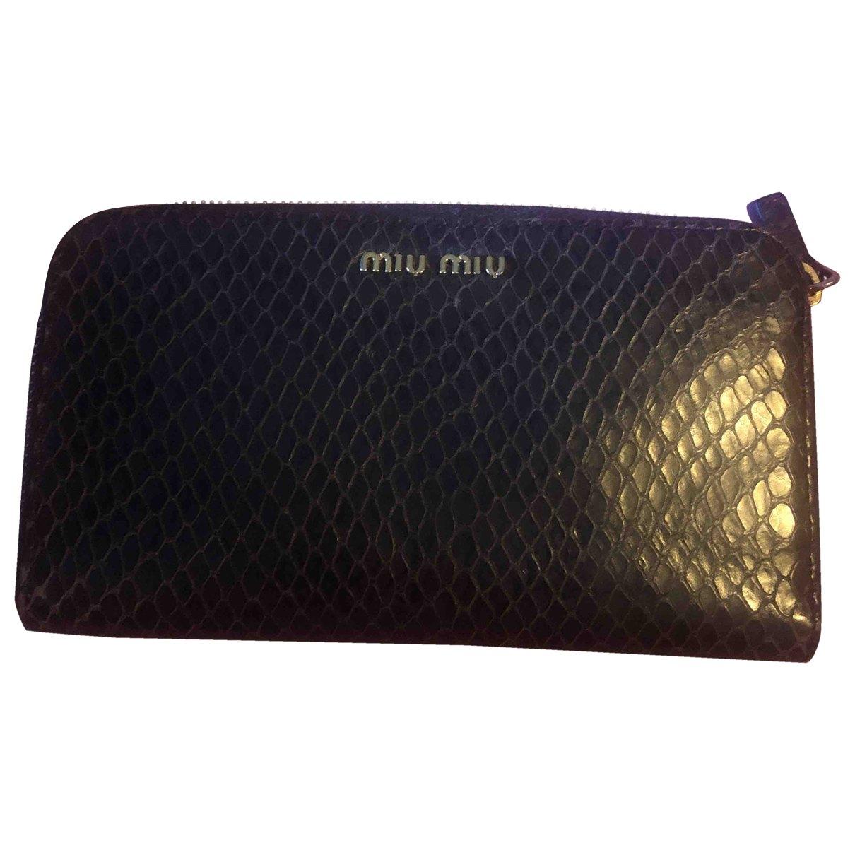 Miu Miu \N Brown Python wallet for Women \N