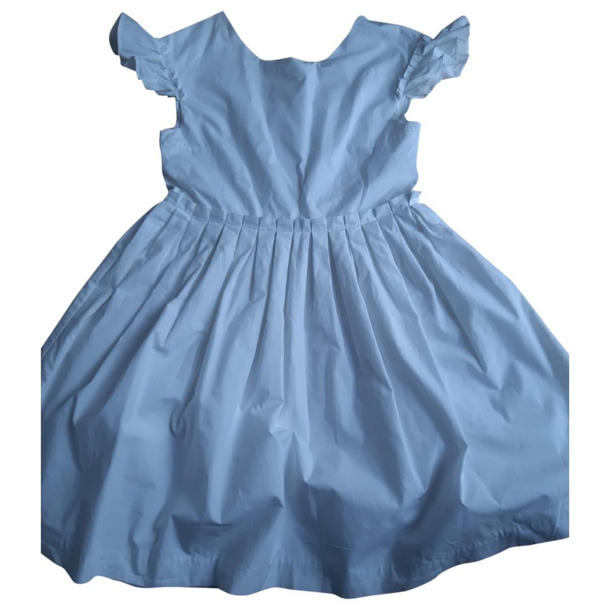 Jacadi \N Kleid in  Weiss Baumwolle