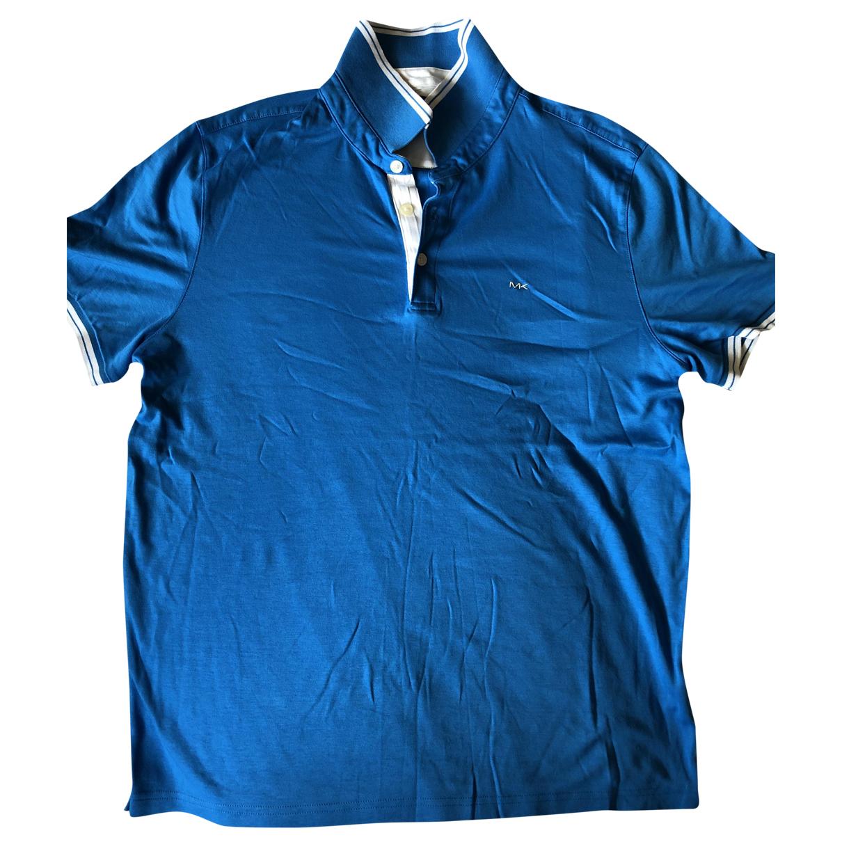 Michael Kors - Polos   pour homme en coton - bleu