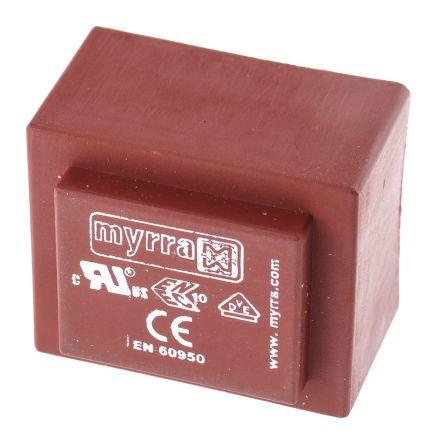 Myrra 12V ac 2 Output Through Hole PCB Transformer, 3.2VA