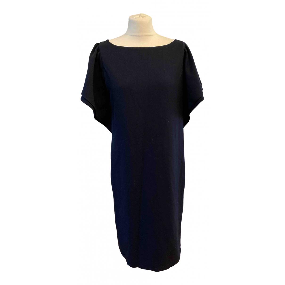 Emporio Armani - Robe   pour femme en laine - marine