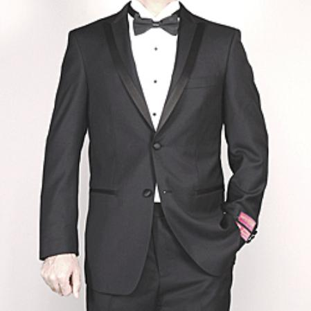 Mens Black Wool Tuxedo