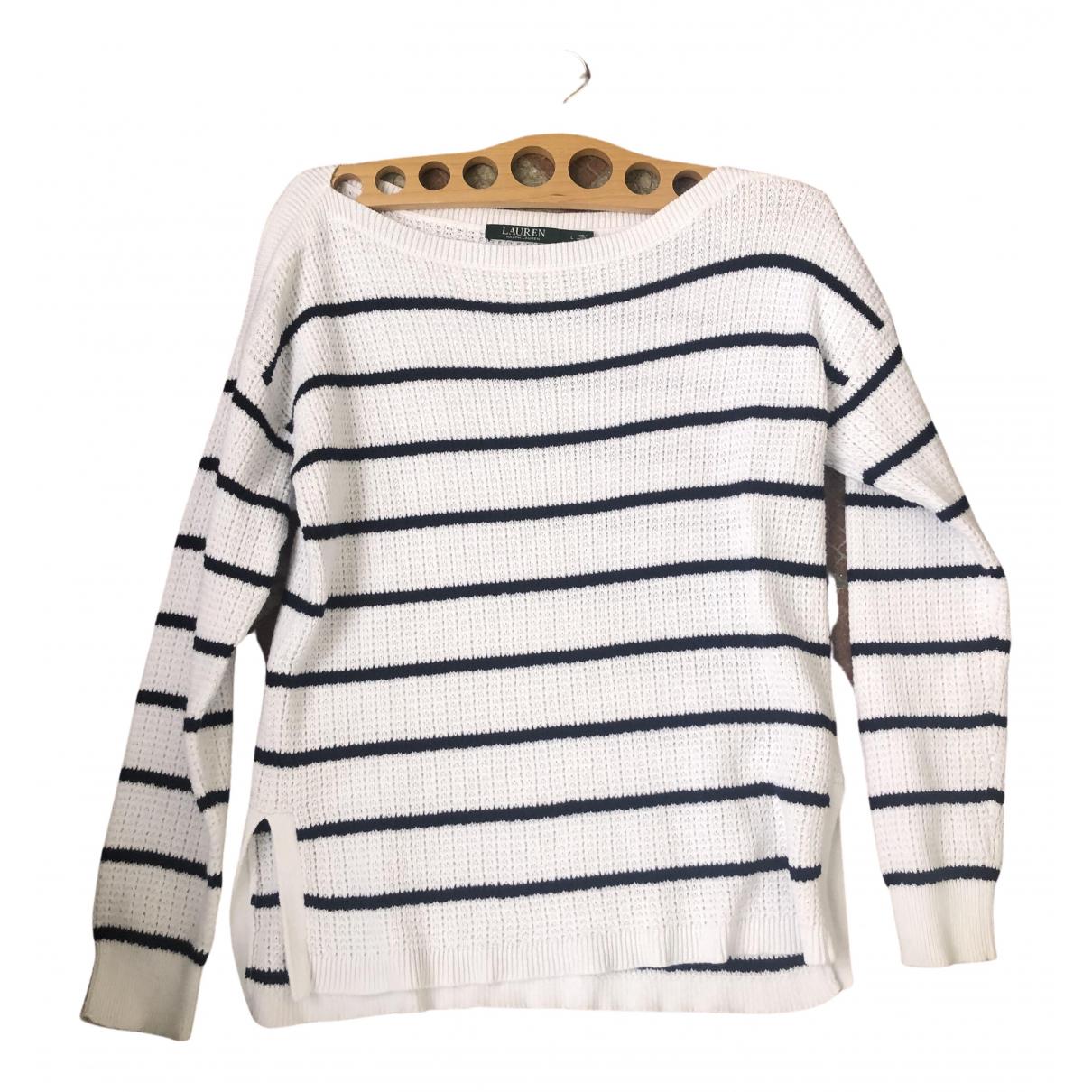 Lauren Ralph Lauren - Pull   pour femme en coton - blanc
