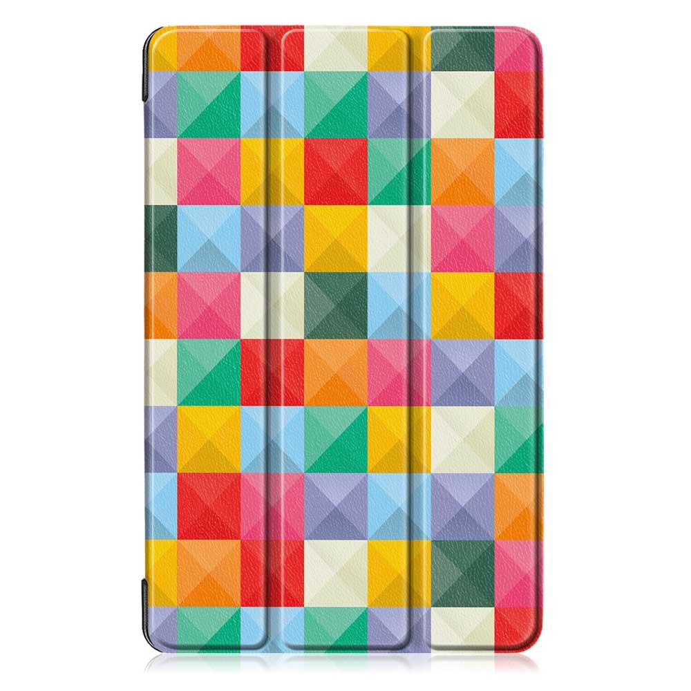 Tri-Fold Pringting Tablet Case Cover for Samsung Galaxy Tab A 10.1 2019 T510 Tablet - Cube