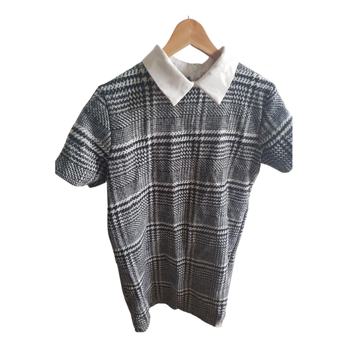 Non Signe / Unsigned \N Kleid in  Schwarz Tweed
