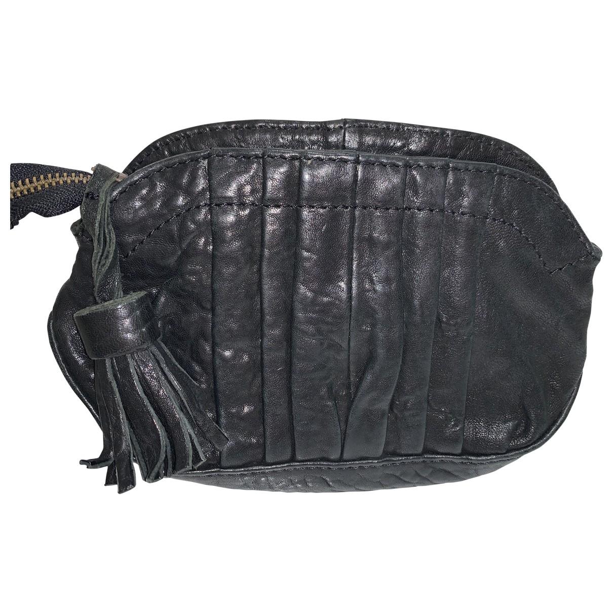 Sessun - Sac a main   pour femme en cuir - noir