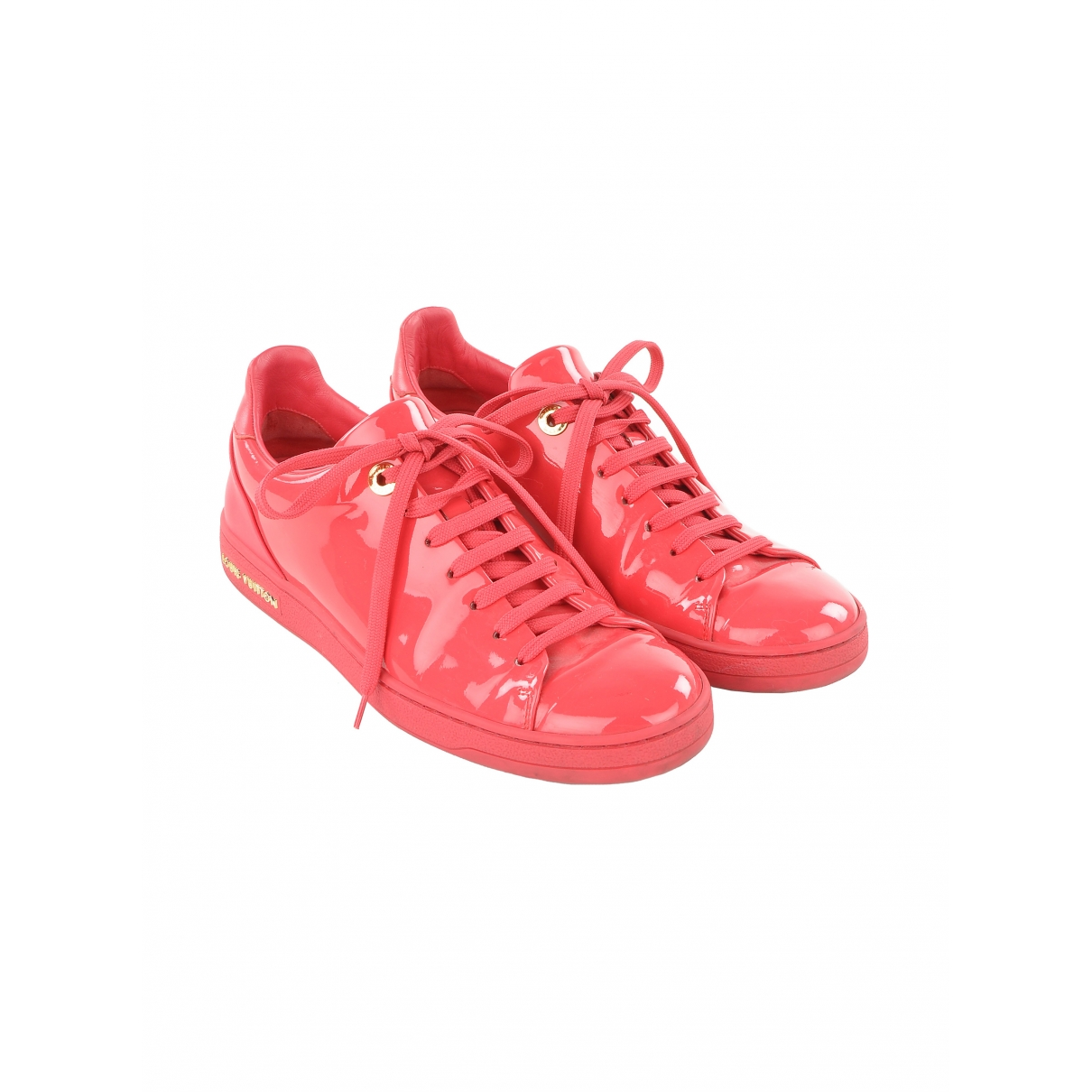 Louis Vuitton FrontRow Pink Patent leather Trainers for Women 36.5 EU