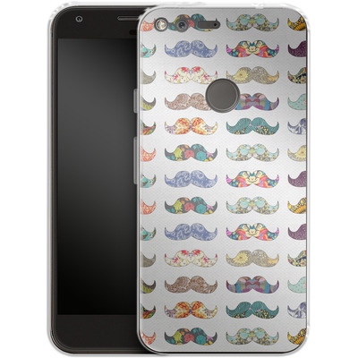 Google Pixel XL Silikon Handyhuelle - Mustache Mania von Bianca Green
