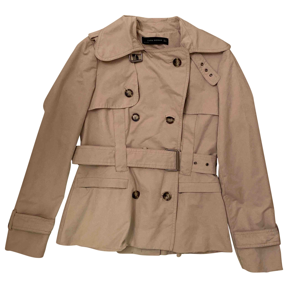 Zara \N Trench in  Beige Polyester