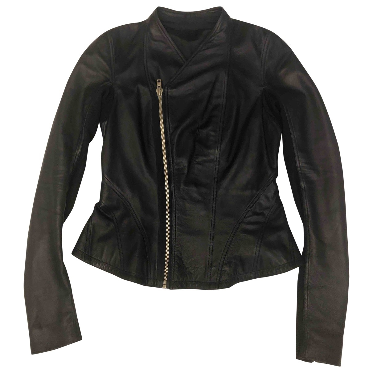 Rick Owens \N Blue Leather jacket for Women 8 UK