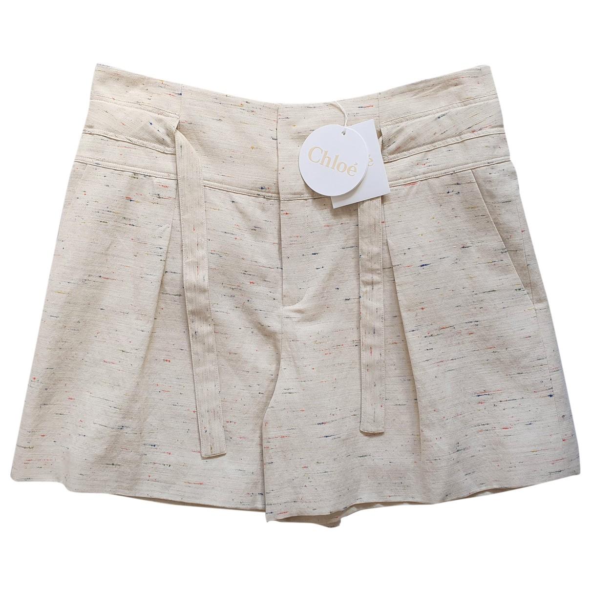 Chloé \N Multicolour Cotton Shorts for Women 44 FR