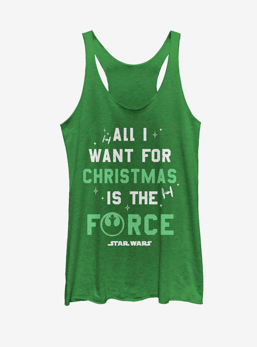 Star Wars Christmas I Want Force Womens Tank