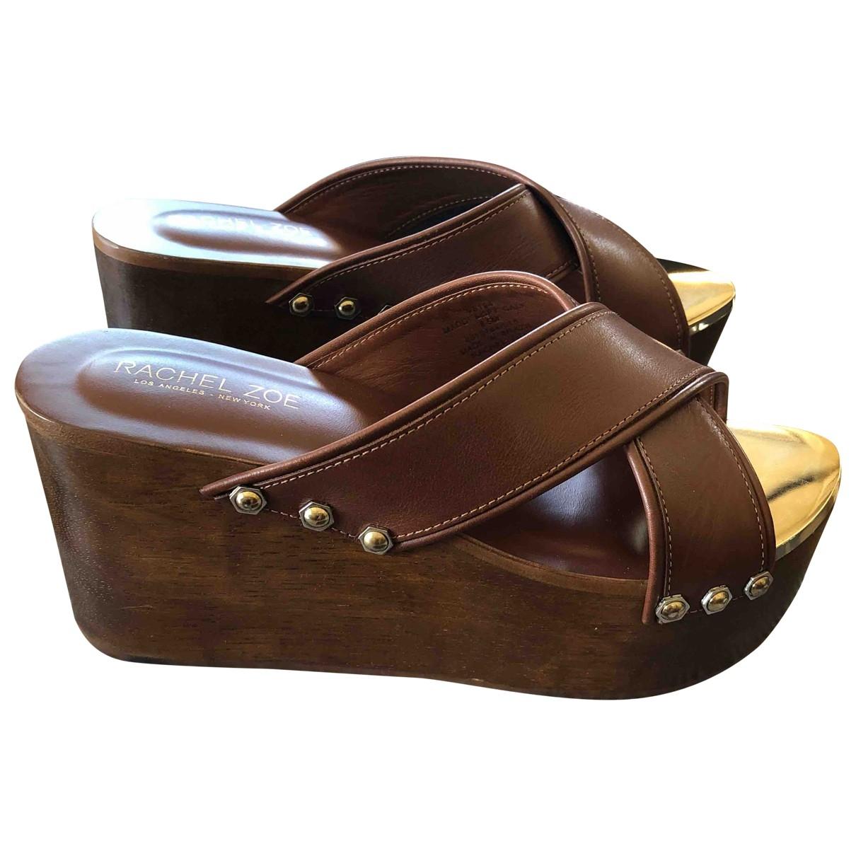 Rachel Zoe \N Brown Leather Sandals for Women 38.5 EU