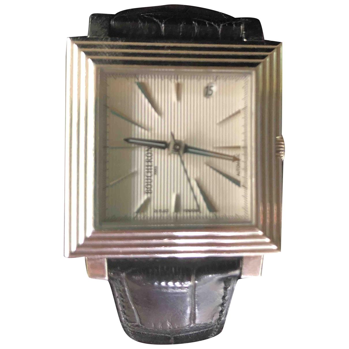 Boucheron \N Black Steel watch for Men \N