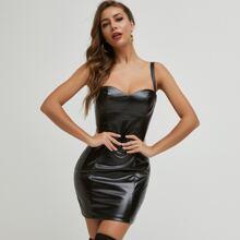 Vestidos Cremallera Liso Glamour