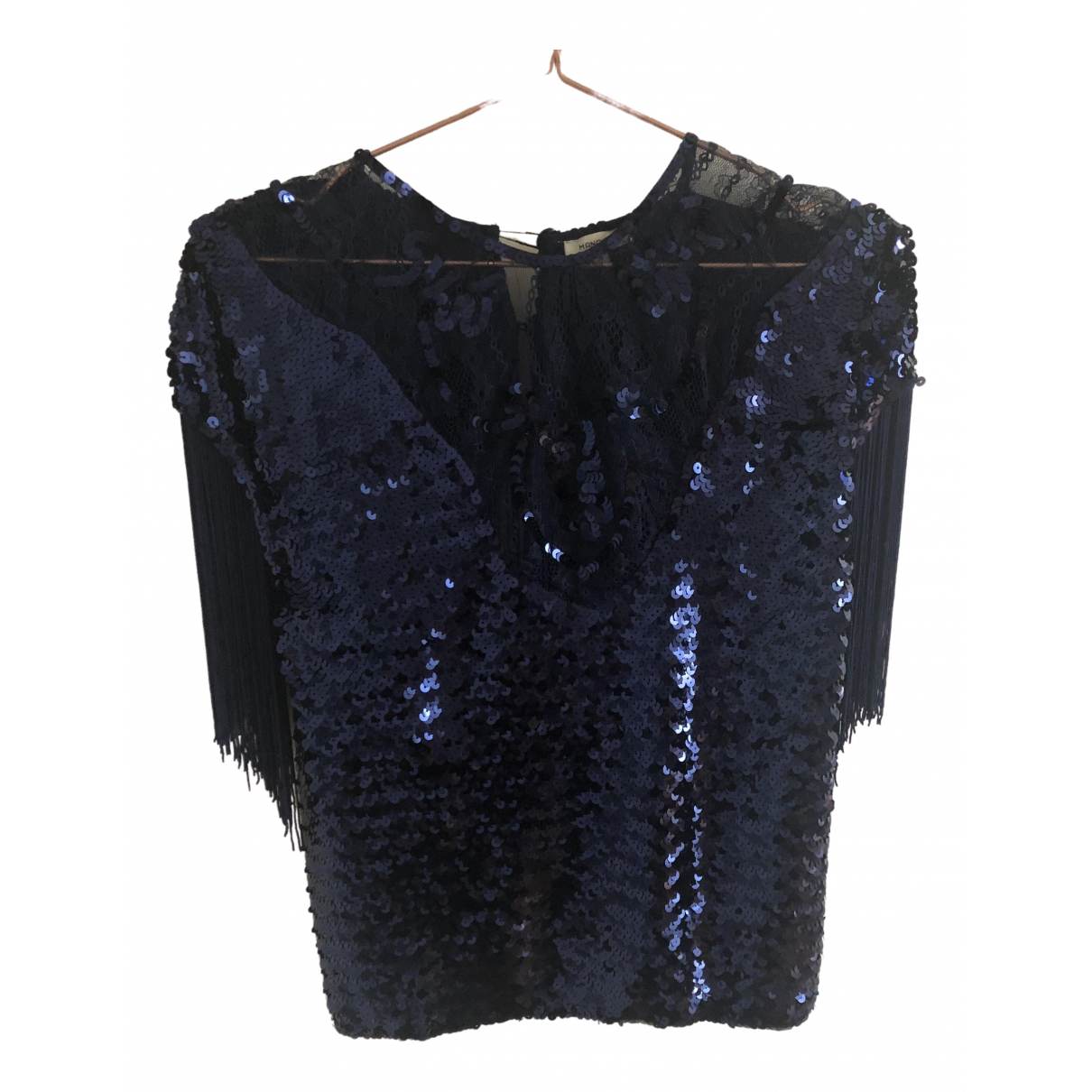 Manoush - Top   pour femme en a paillettes - bleu