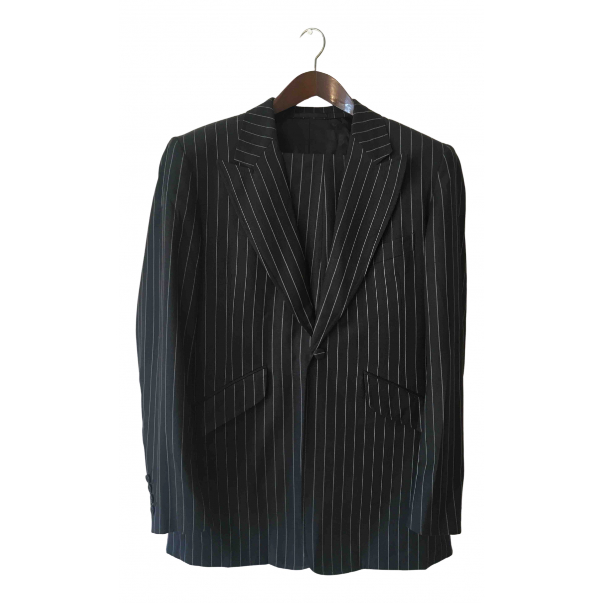 Non Signé / Unsigned N Grey Wool Suits for Men M International