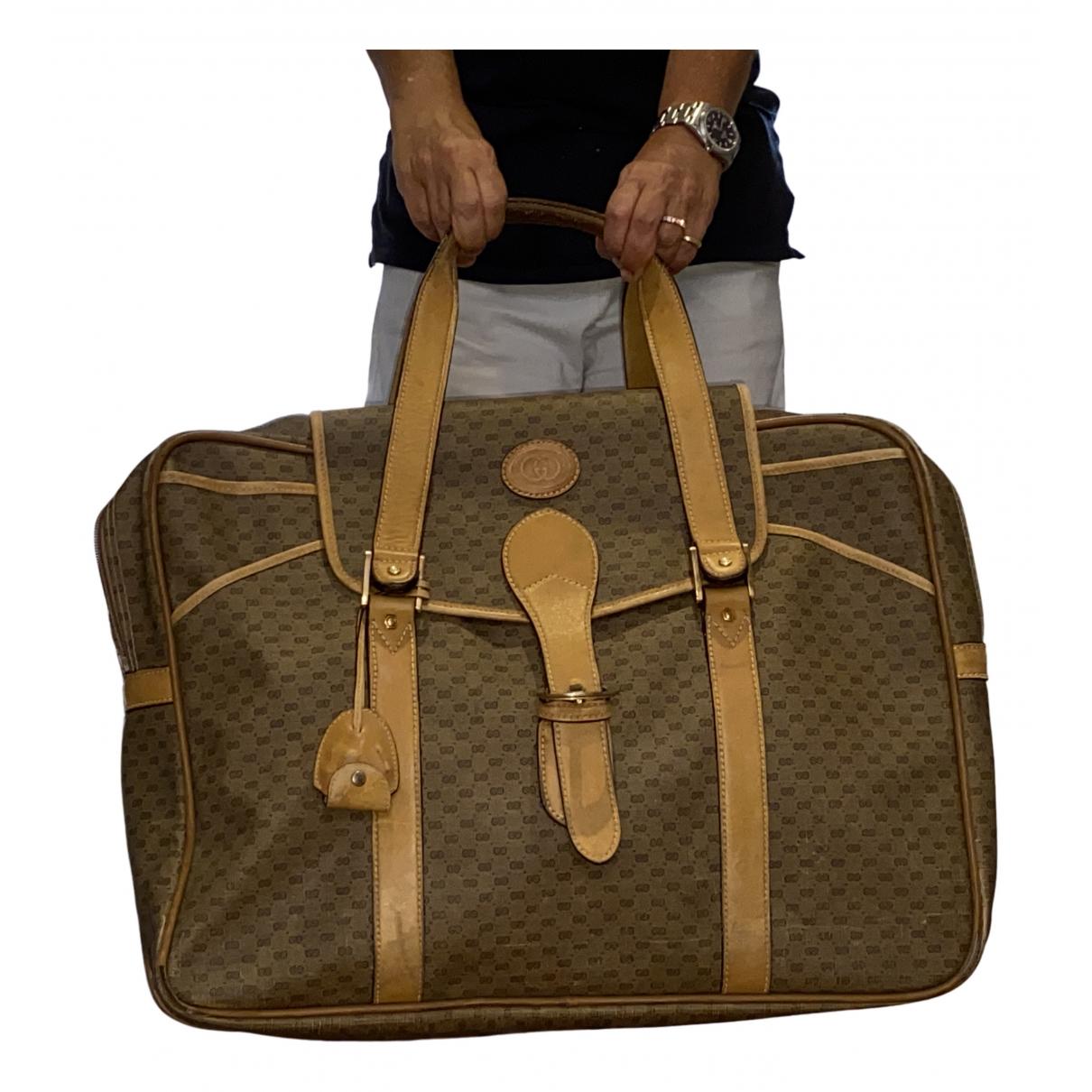 Gucci - Sac de voyage   pour femme en toile - beige