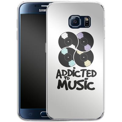 Samsung Galaxy S6 Silikon Handyhuelle - Addicted To Music von Claus-Peter Schops