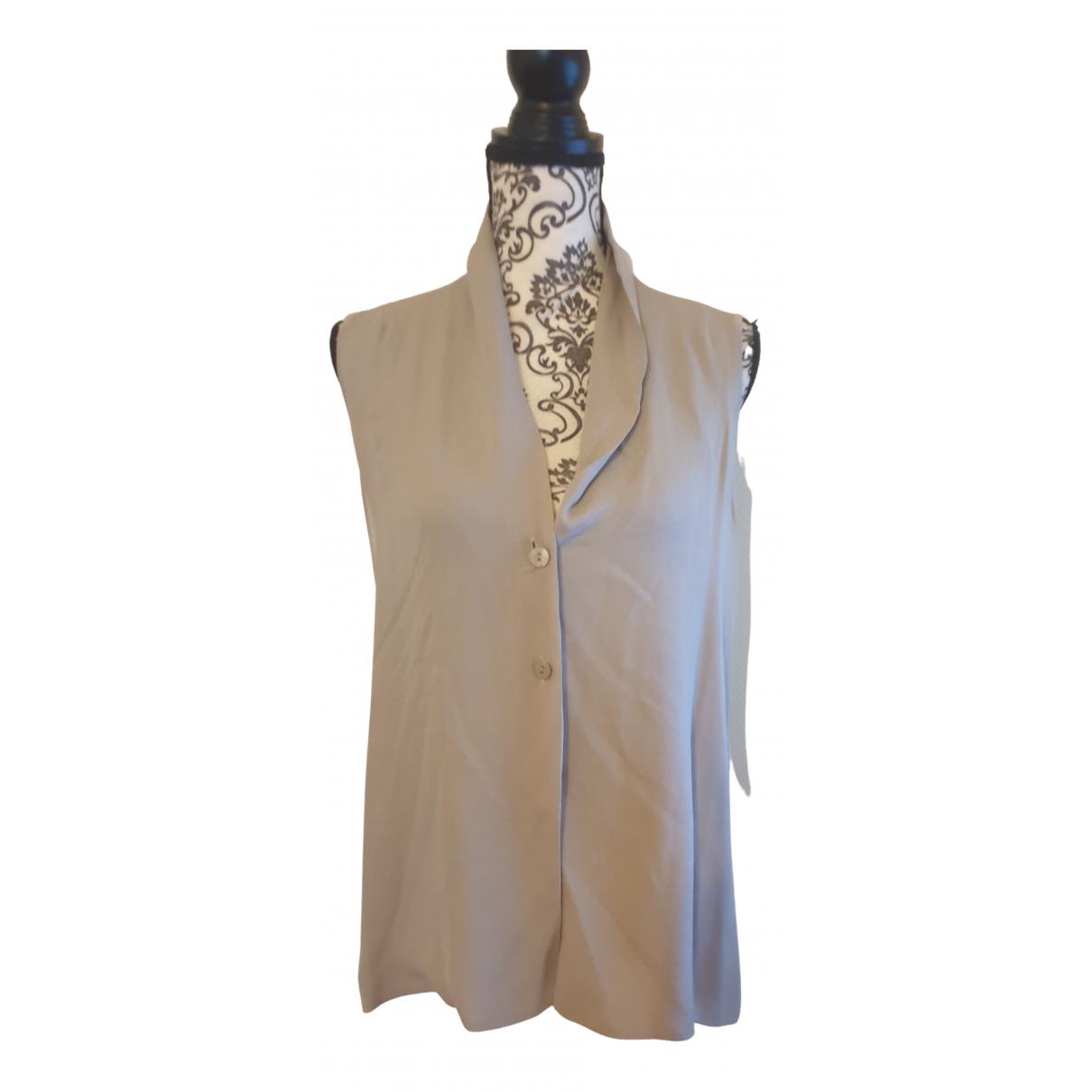 Zapa - Top   pour femme en soie - gris