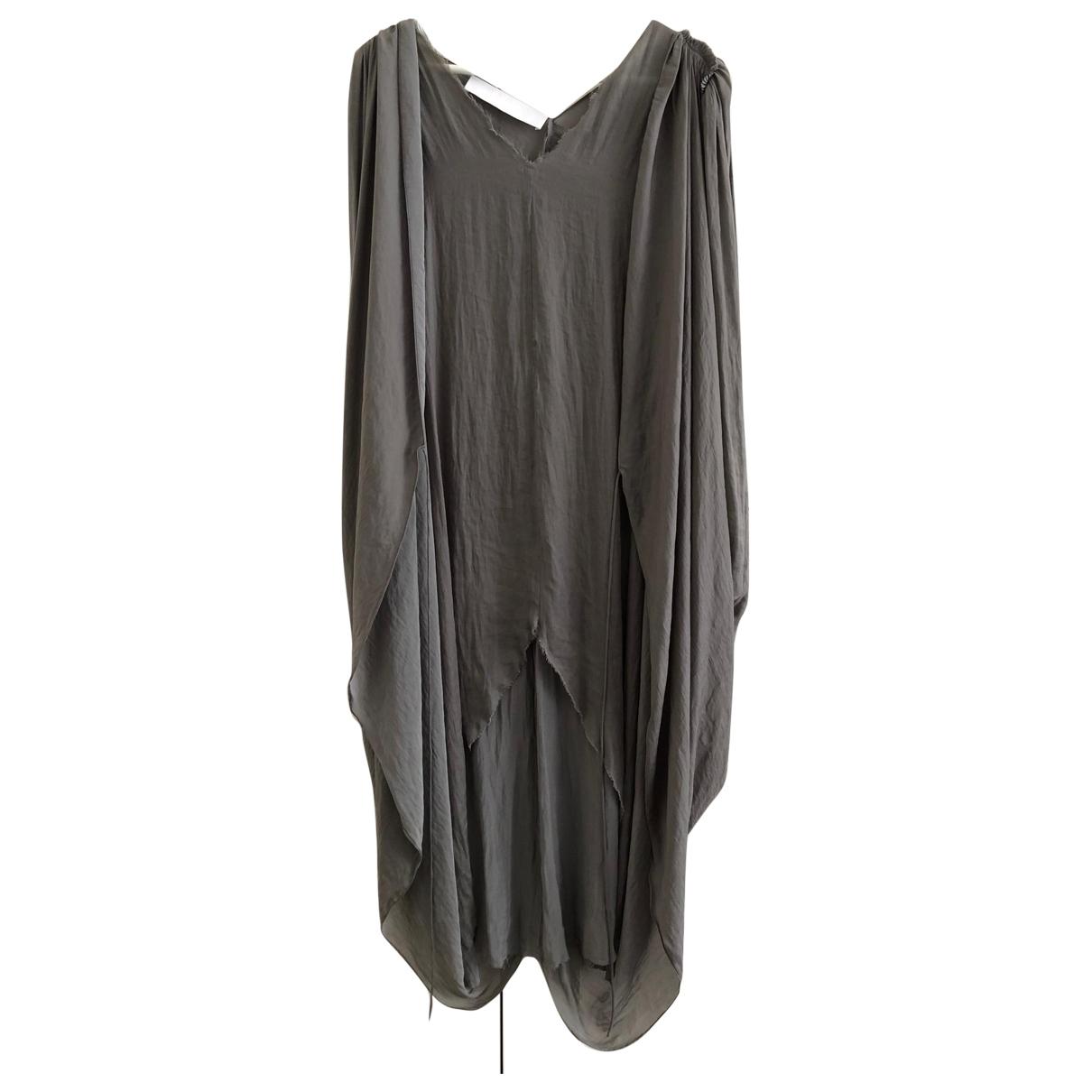 Lanvin \N Kleid in  Grau Polyester