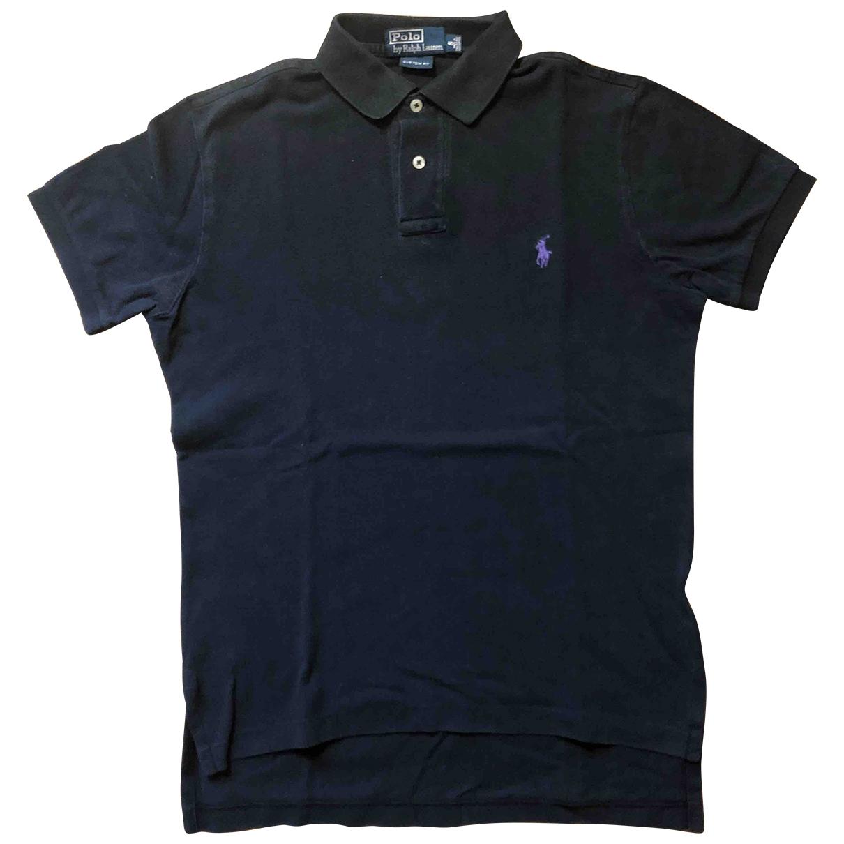 Polo Ralph Lauren Polo ajuste manches courtes Poloshirts in  Schwarz Baumwolle