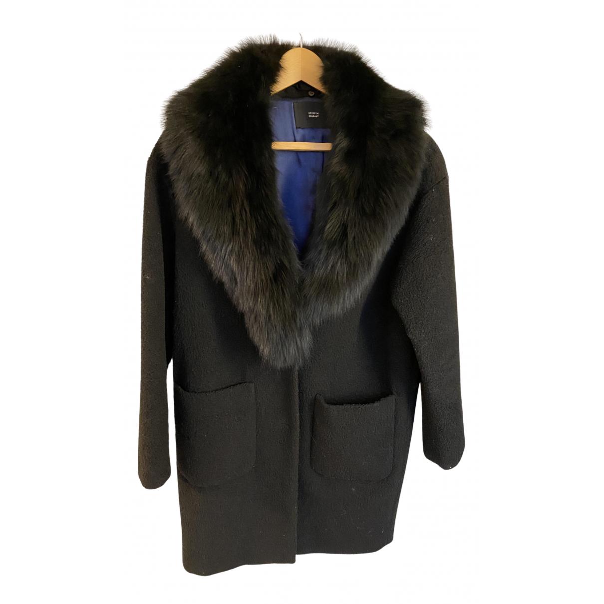 Steffen Schraut - Manteau   pour femme en laine - noir
