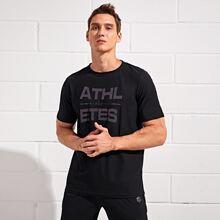 Sports T-Shirt mit Buchstaben Grafik