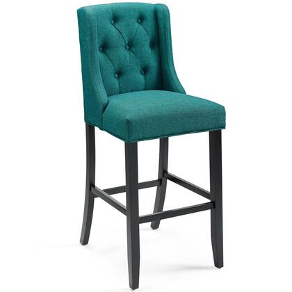 Baronet Collection EEI-3741-TEA Bar Stool with Dense Foam Padding  Sinuous Spring Support  Footrest Support  Solid Wood Legs and Soft Polyester