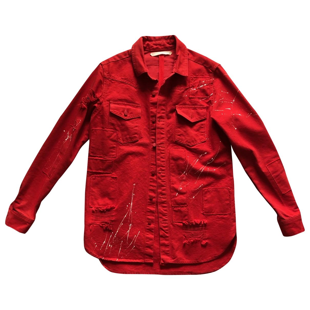 Off-white \N Jacke in  Rot Baumwolle