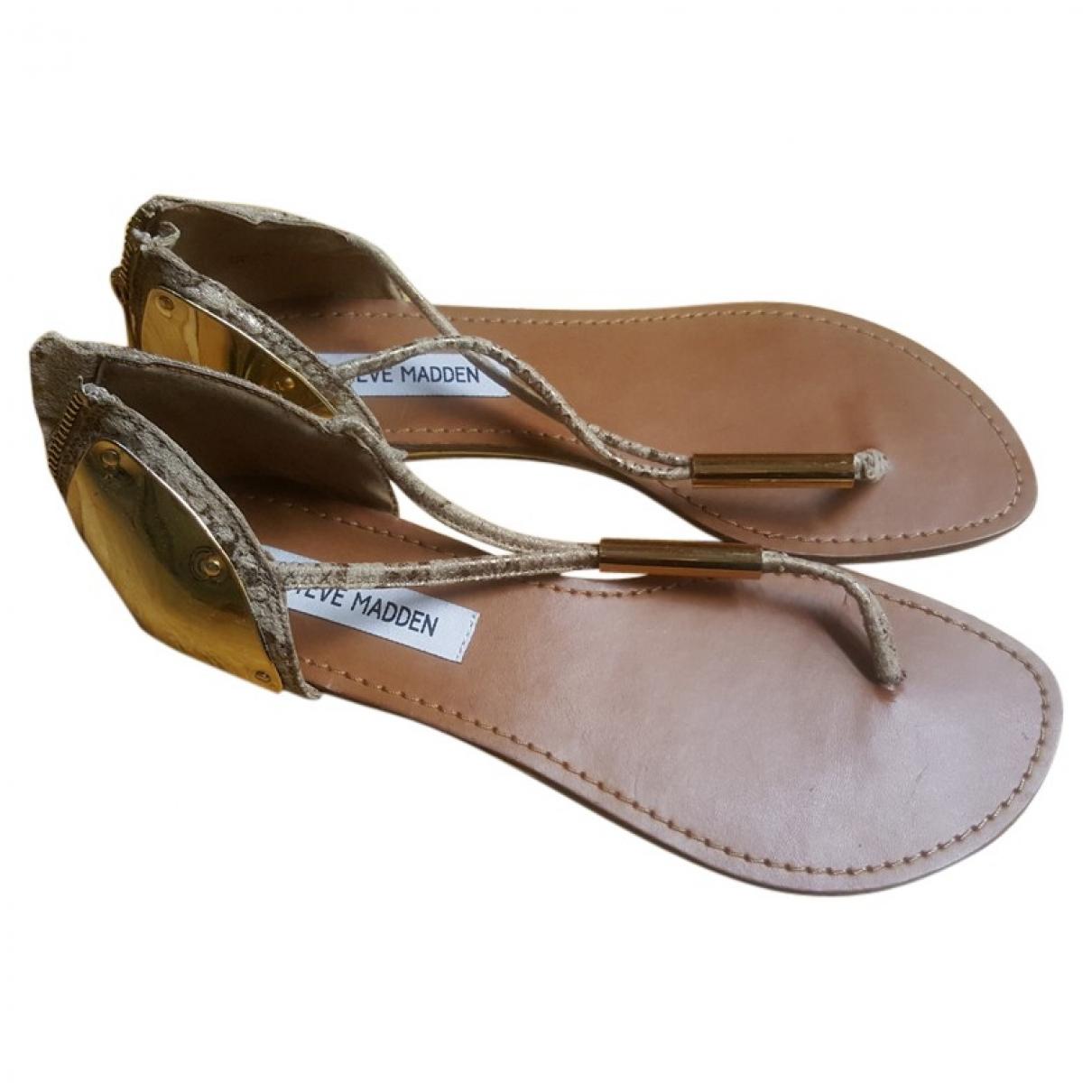 Steve Madden \N Gold Leather Sandals for Women 40 EU