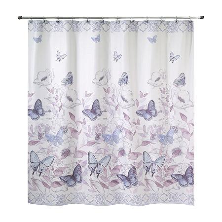 Avanti In The Garden Shower Curtain, One Size , Purple