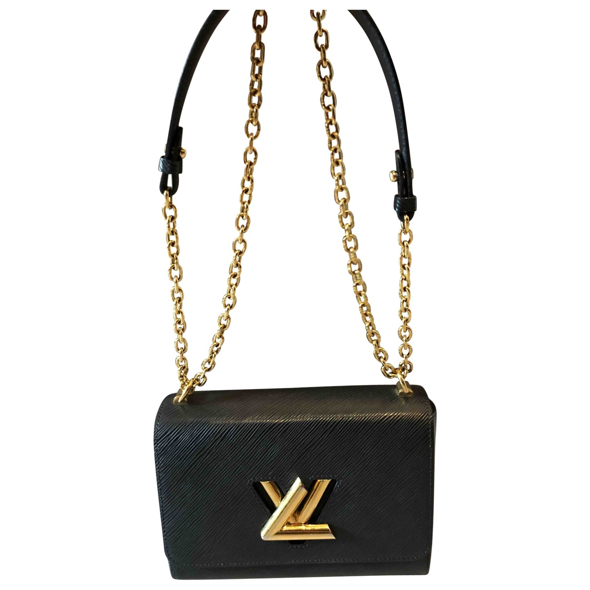 Louis Vuitton Twist Handtasche in  Schwarz Leder