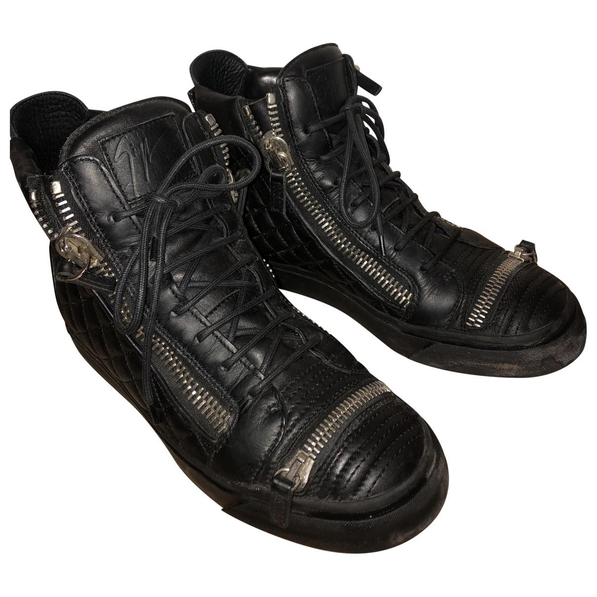 Giuseppe Zanotti Nicki Black Leather Trainers for Women 39 EU